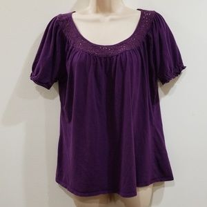 Merona women's purple plum color blouse size XL
